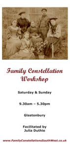 Glastonbury Family Constellation Workshop in May 2014 with Julia Duthie